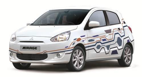 Mitsubishi Mirage trên nền trắng tinh khôi - mirage.vn