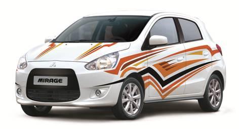 Mitsubishi Mirage trên nền trắng tinh khôi – mirage.vn